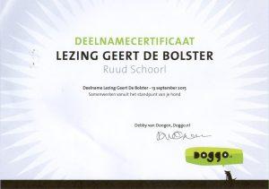 Geert de Bolser: Samenwerken vanuit het standpunt van de hond.